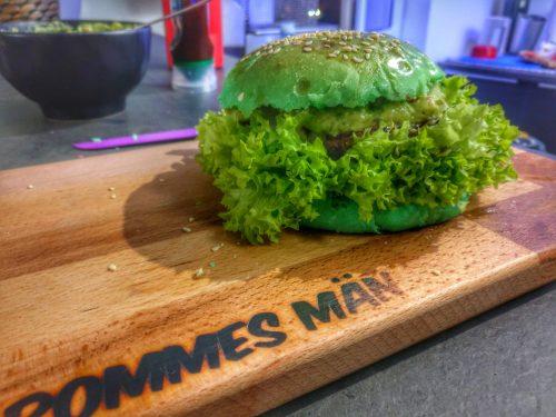 grüner hamburger